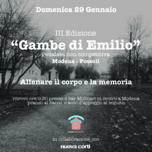 Casa Mazzolini, Gambe di Emilio, Pedalata, FIAB, ex campo di concentramento, giorno della memoria